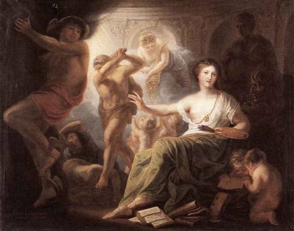 Hercules Protects Painting From Ignorance And Envy